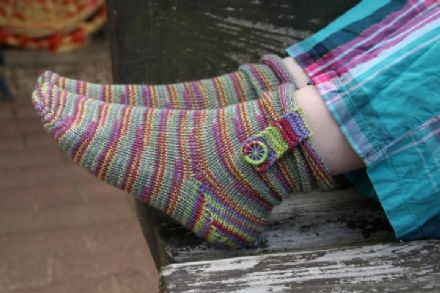 Boot Strap Socks, Knitting Pattern